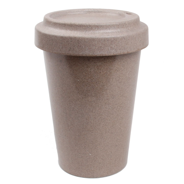 MBF walnut husk Biodegradable reusable coffee mug with lid