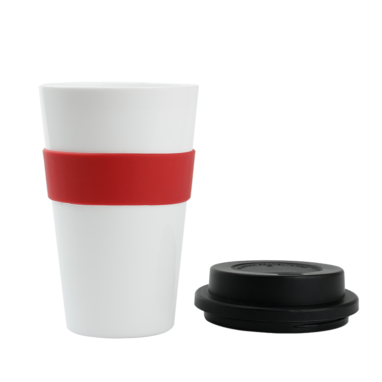 personalized coffee cups reusable coffee Cups with silicon Lid 300 ml