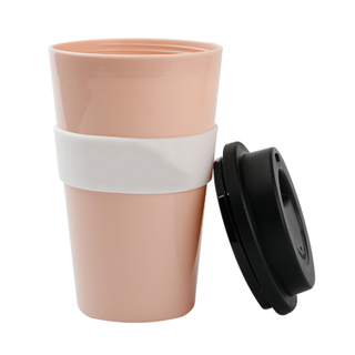 China Supplier Cheap Promotion Mug Custom Logo Bamboo Mug Straw Tumbler Reusable Coffee Cup