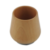 Custom logo outer and steel inner bamboo shell vacuum flask with wood