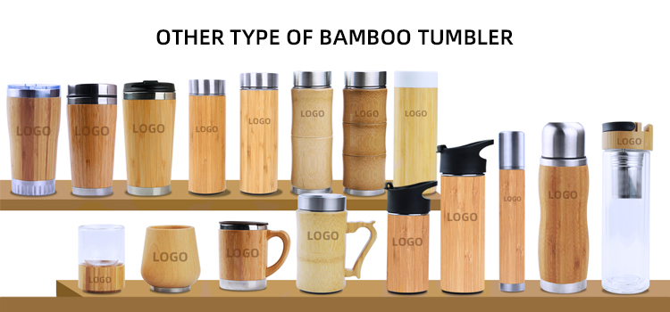 Premium eco-friendly custom logo bamboo tumbler with 360ML and 450ML