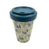 Tea Cups 450ML Bamboo Fiber Coffee Mugs Milk Mugs With Lid And Sleeve for Dishwasher