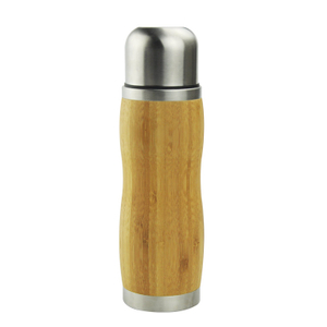 New design BPA free Non-leak double wall bamboo coffee cup