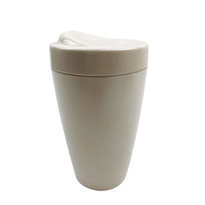 bio-degradable and reusable double wall Bamboo fiber tumbler for drinking